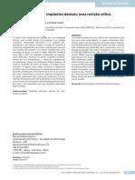Artigo Fatores de Risco Em Implantodontia