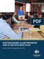 1111 Distinguished Club Program and Club Success Plan