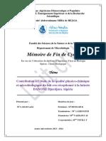 Contribution à l'étude de la qualité physico-chimique et microbiologique du lait cru réceptionné à la laiterie DANONE Djurdjura Algérie.pdf