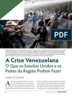 A Crise Venezuelana o Que Os Estados Unidos e Os Paises Da Regiao Podem Fazer