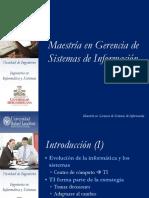 Presentación Maestría en Gerencia de Sistemas de Información