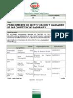 Procedimiento de Identificación y Validación de Las Competencias Laborales (Ok)