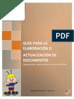 Guia para la elaboracion o actuacion de documentos