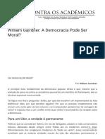 William Gairdner a Democracia Pode Ser Moral Contr