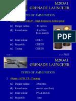 101-03 Type of Ammunition - M203A1