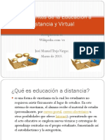 Antecedentes de la Educación a Distancia y Virtual