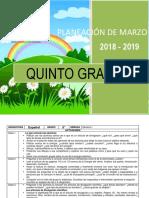Planeacion de marzo - 5to Grado 2018-2019.docx
