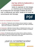 Traduccion e Interpretacion