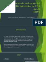 Escala de Evaluación Del Desarrollo Psicomotor de 0-24