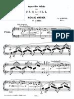 Wagner - Parfisal Heintz Aufzug 1 Piano