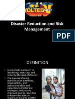 Disaster Reduction and Risk Management