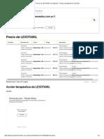 Precios de LEXOTANIL en Argentina - Precios Actualizados de Remedios