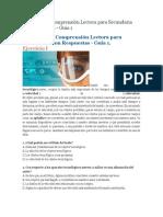 Ejercicios de Comprensión Lectora para Secundaria con Respuestas.docx