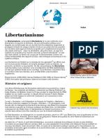 Libertarianisme - Wikimonde