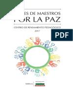 VOCES DE MAESTROS POR LA PAZ - Centro de Pensamiento Pedag+¦gico de Antioquia - 2017.pdf