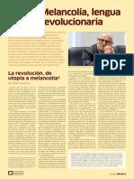 Enzo Traverso, Melancolía de Izquierda, en Review, Buenos Aires, Marzo 2019