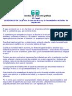 El Papel y La Importancia de Controlar La Temperatura y La Humedad en El Taller de Impresion.doc