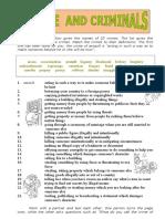 Crime Worksheet