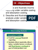 Absorption and Variable Cost