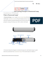 Fluorescent Lamp and Working Principle of Fluorescent Lamp _ Electrical4U