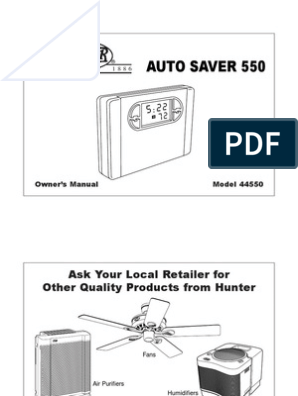 thermostat 44550 owners manual thermostat fahrenheit Hunter Original Wiring Diagram