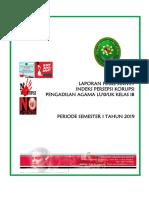 Laporan Indeks Persepsi Korupsi Semester I 2019