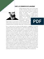 Wilhelm Wundt y La Fundación de La Psicología