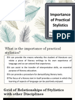 Importance of Practical Analysis
