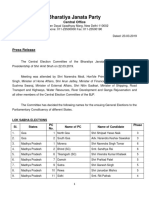 BJP 6th list of candidates for Lok Sabha Elections 2019