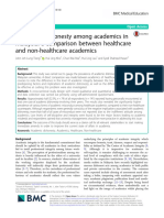 Academic Dishonesty Among Academics in Malaysia a Comparison Between Healthcare and Non-healthcare Academics