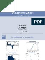 US Economic Outlook 2010 [GS]