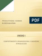 Unidad 1 Comportamiento Organizacional e Individual.