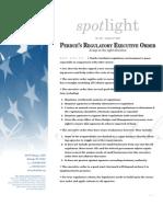 Spotlight 401 Perdue's Regulatory Executive Order