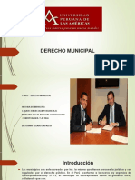 3ra y 4ta Semana Derecho Municipal Aspectos Generales