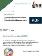 MHR22 International HRM