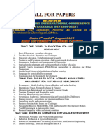 Call for Papers 4th Eldoret Conference on Sustainable development