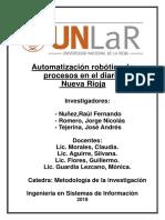 Trabajo de Investigación- automatización robótica de procesos