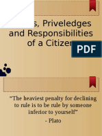 Rights and Privileges of a Citizen
