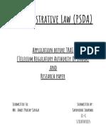 Administrative Law (PSDA)