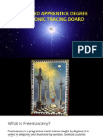 Esoteric Meaning of 1st Degree Masonic Tracing Board