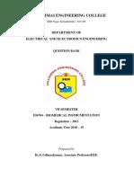 EI6704 Biomedical Instrumentation