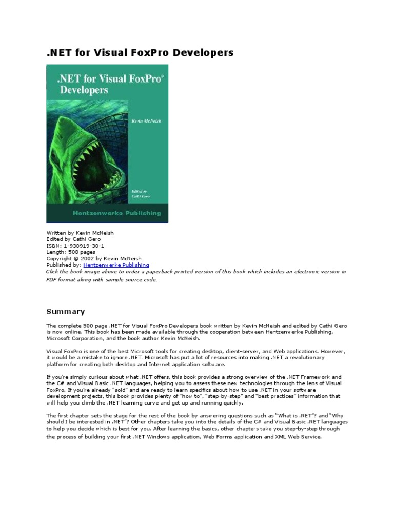 Dot net for vfp developers component object model microsoft dot net for vfp developers component object model microsoft visual studio pooptronica Images