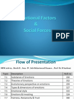 Emotional Factors & Social Forces