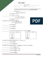 Basic Calculus 3rd Tr Quiz#1