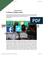 Em Chiapas, a revolução continua – Le Monde Diplomatique