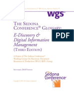 E-Discovery Glossary - Sedona Conf 2010.09
