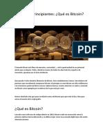 Guía Para Principiantes Bitcoin