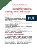 Historia de Espanþa. 2 de Bachillerato. Tema 7