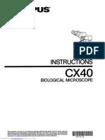 manual de usuario microscopio olympus cx40