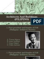 FILIPINO ARCHITECT & BUILDING